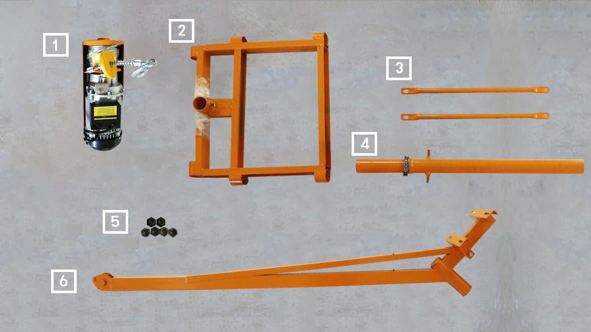ชิ้นส่วนและอุปกรณ์ของ เครนยกของขนาดเล็ก รุ่น PC200