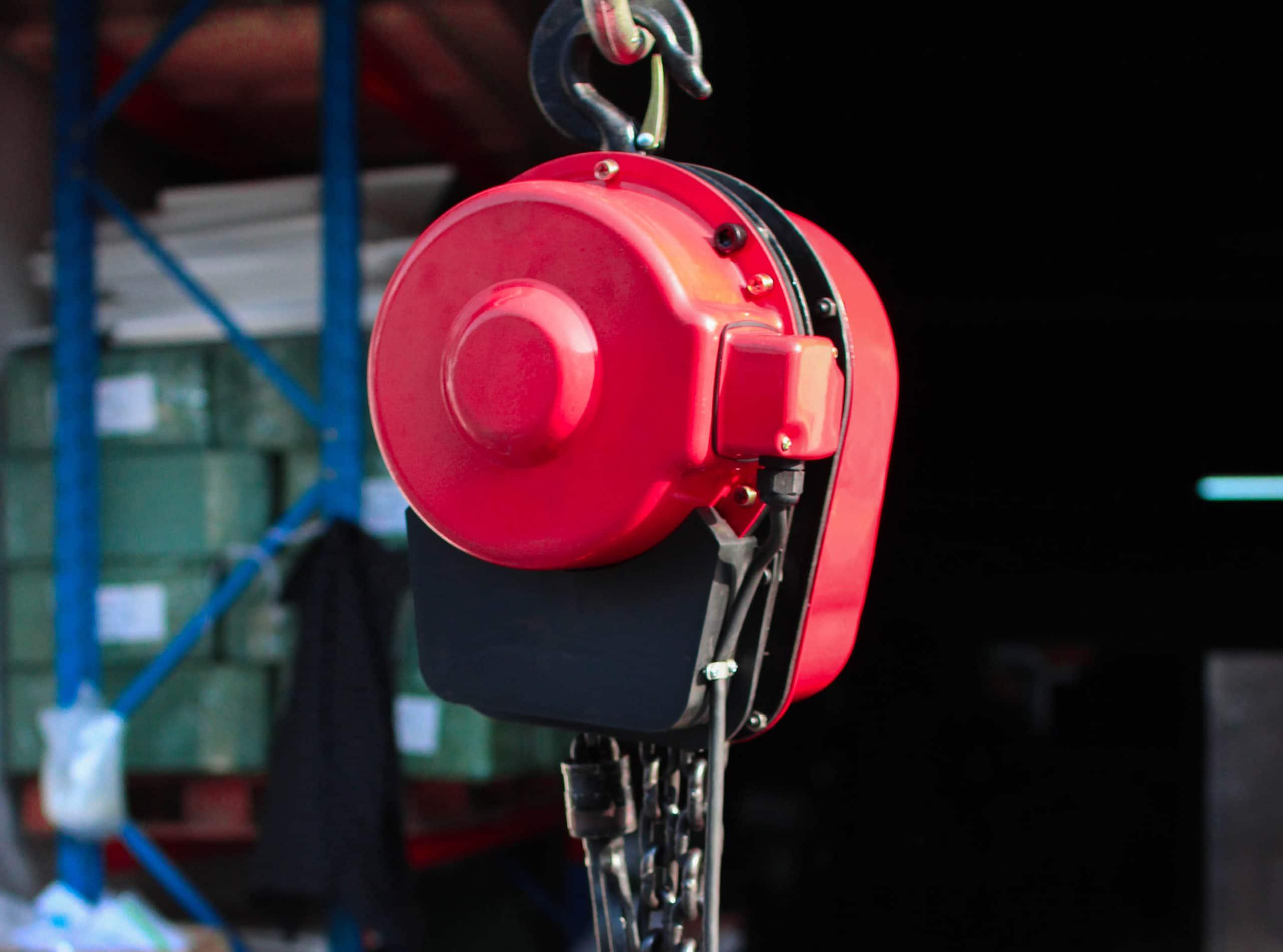 รอกโซ่ รอกโซ่ไฟฟ้า ตัวเครื่องมีขนาดเล็ก น้ำหนักเบา เคลื่อนย้ายสะดวก